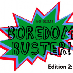 Online Lunch Club-Club, Boredom Buster No.2  & all the latest updates